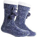 Tacobear Zapatillas Casa Mujer Calcetines Antideslizantes Cálido Calcetines Invierno con suela Calcetines Zapatilla…