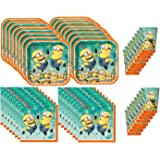 Despicable Me 2 Birthday Party Set Party Supplies Pack for 16 guests - plates, cups, napkins
