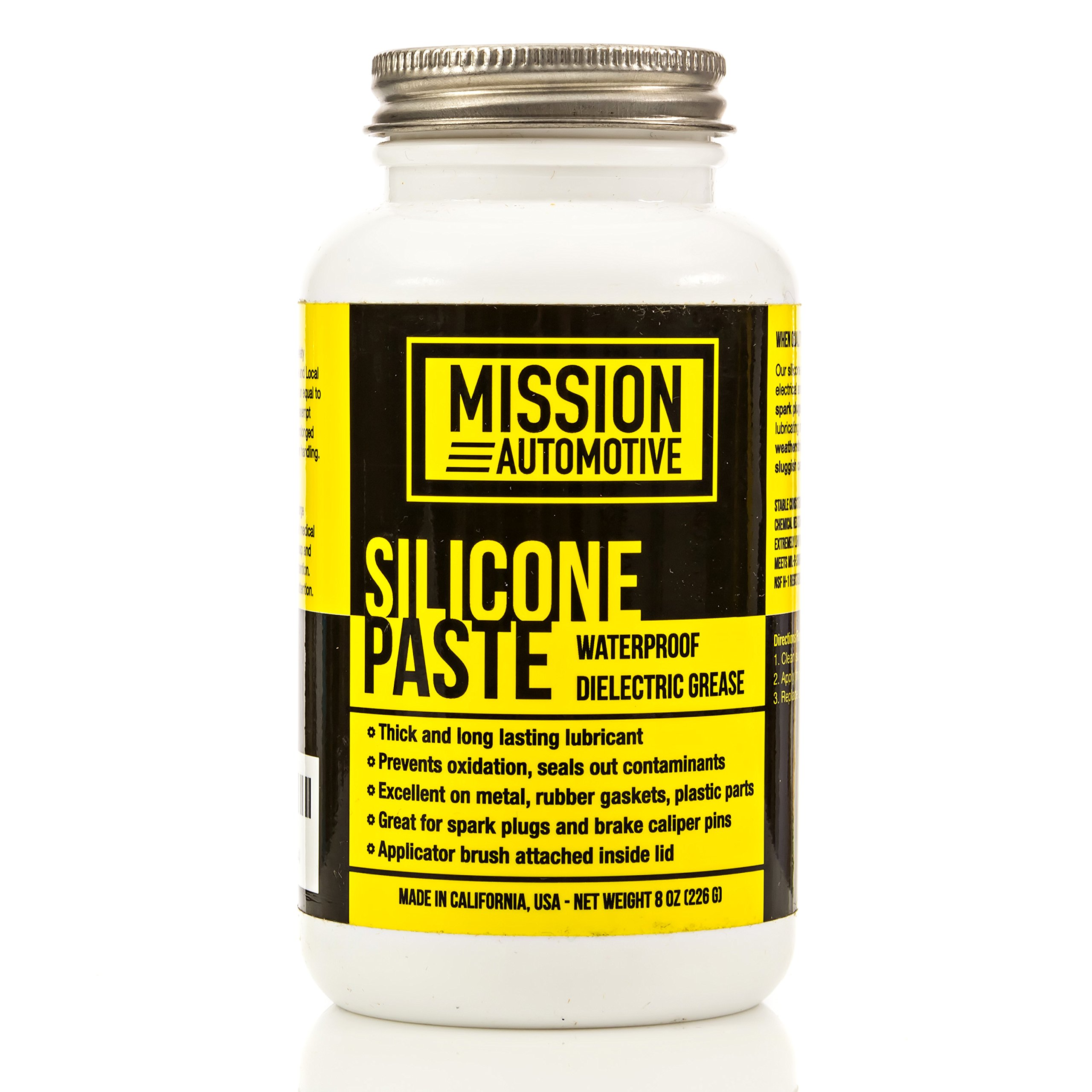 Mission Automotive Dielectric Grease/Silicone Paste/Waterproof Marine Grease (8 Oz.) - Made in USA - Excellent Silicone Grease by Mission Automotive