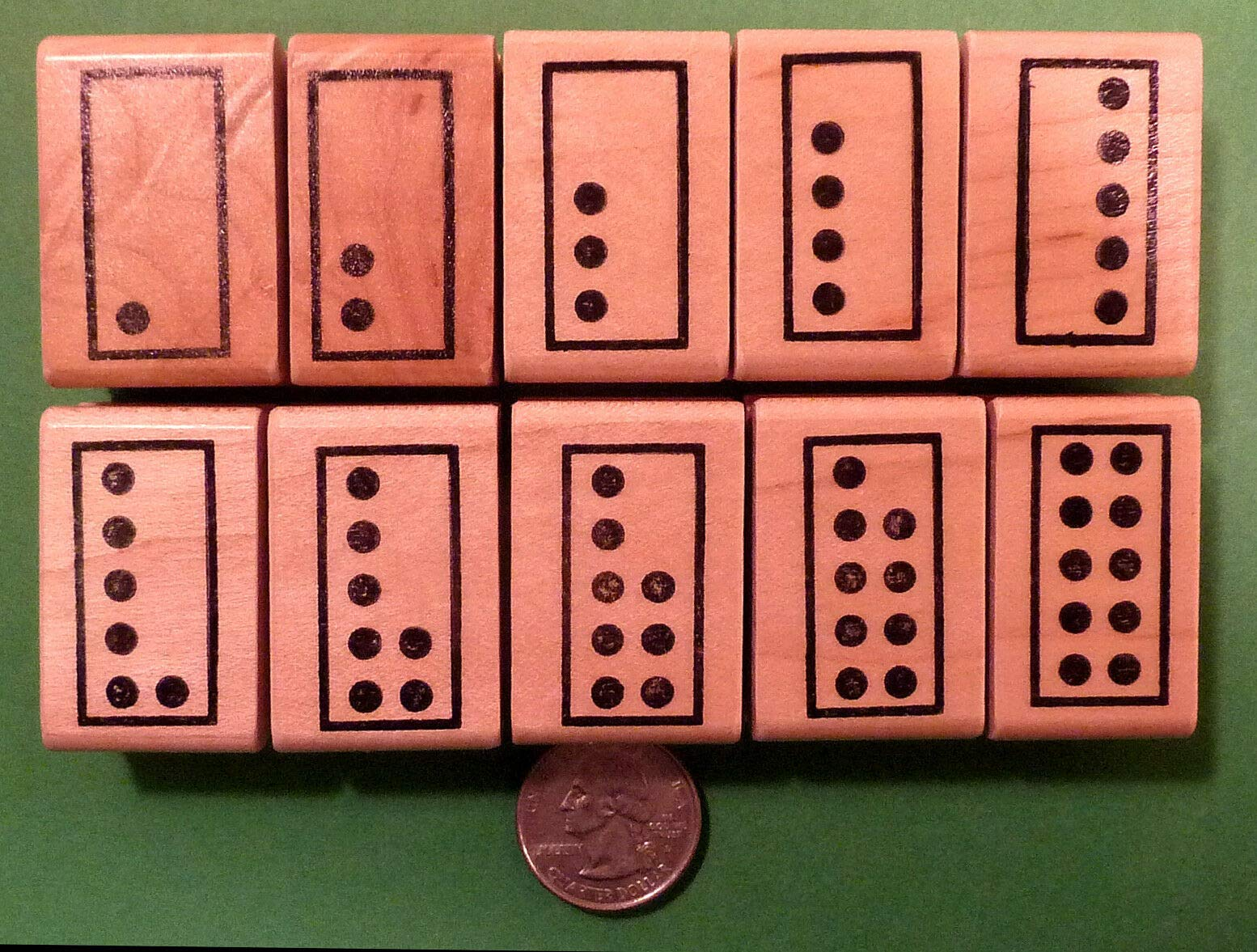 Singapore Math Number Tiles, Teacher's Set of 10 Wood Mounted Rubber Stamps
