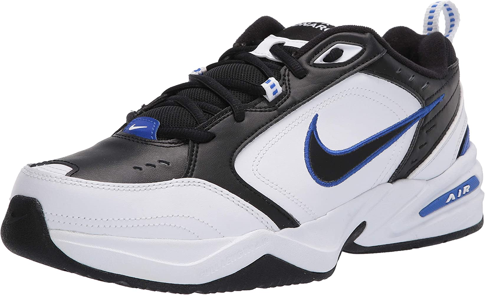 Elección haz idioma  Amazon.com | Nike Men's Air Monarch IV Cross Trainer,  Black/Black-White-Racer Blue, 6 4E US | Fitness & Cross-Training