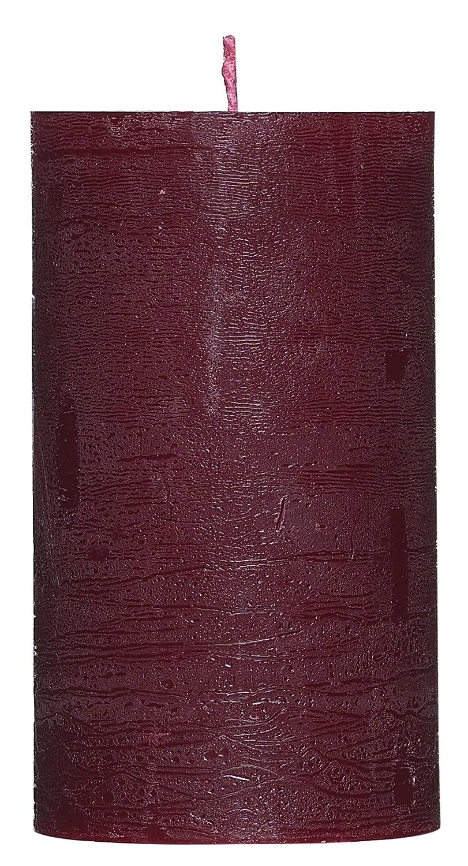 /Couleur Bordeaux /Belle Bougie pour la d/écoration avec surface gewischter/ /12/cm Grande bougie pilier Rustic/ Smart Planet/® Bougies Ambiance/