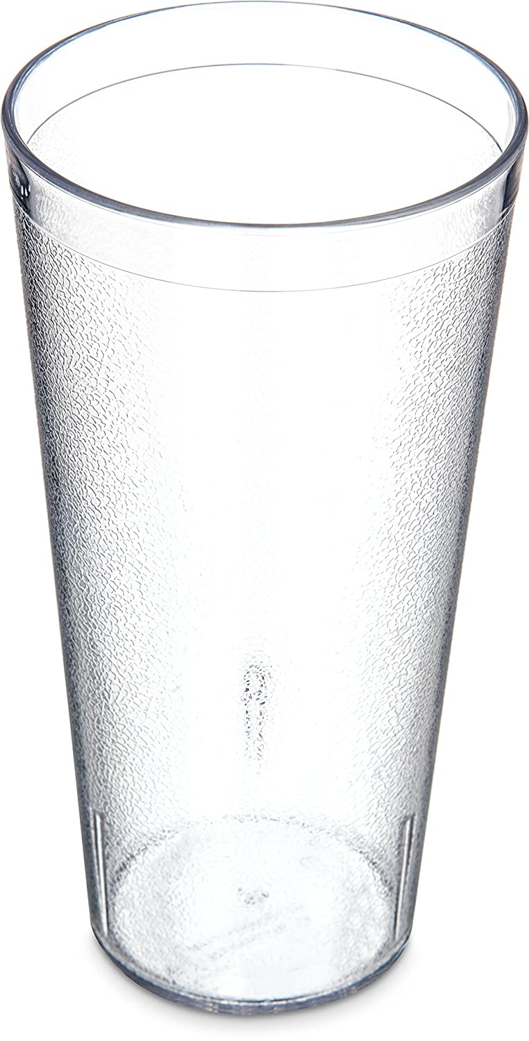 Carlisle 5224-8107 BPA Free Plastic Stackable Tumbler, 24 oz., Clear (Pack of 6)
