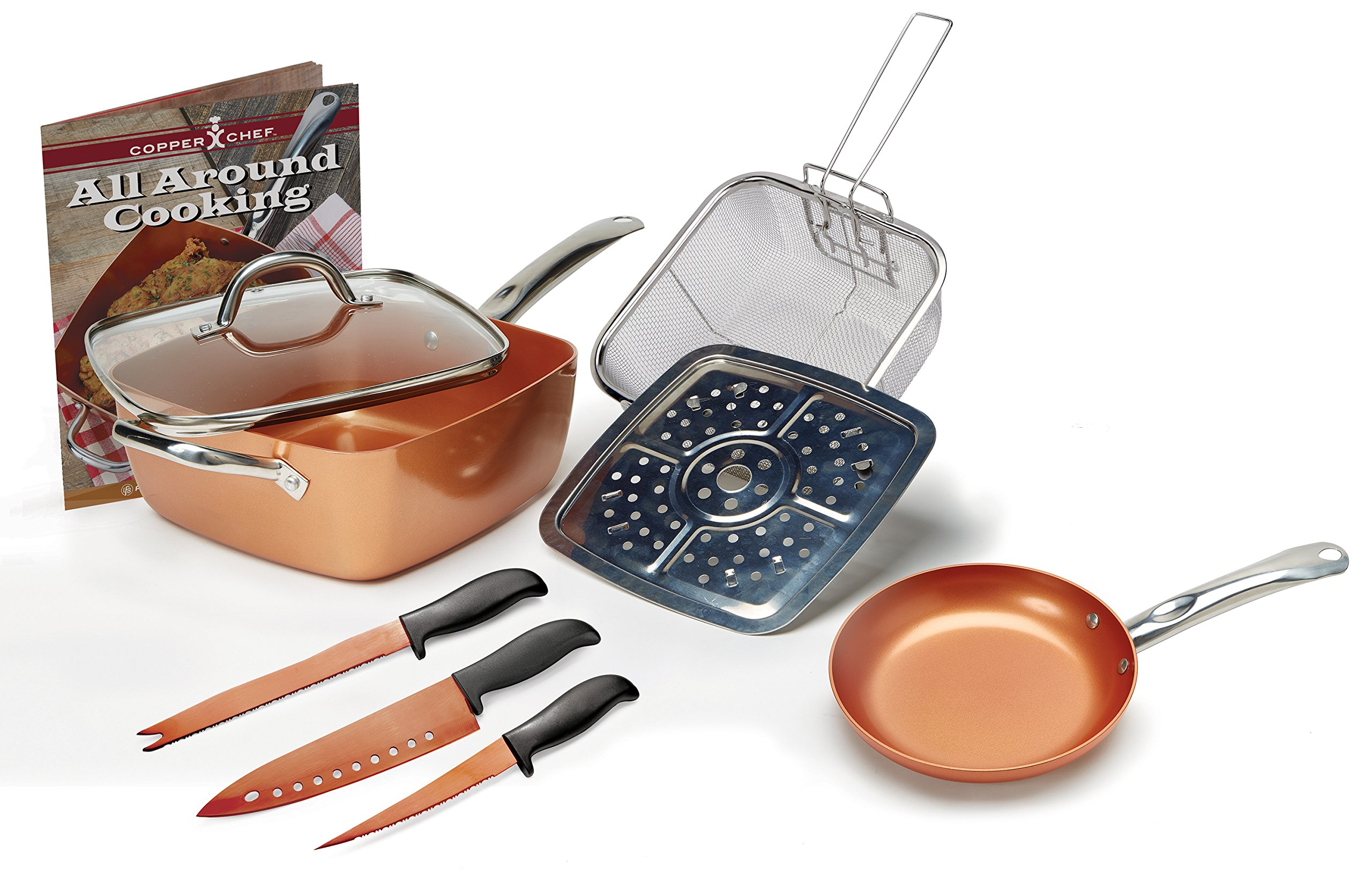Copper Chef 9pc Pan Set