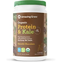 Amazing Grass Vegan Protein & Kale Powder: 20g of Organic Protein + 1 Cup Leafy Greens per Serving, Chocolate, 15…