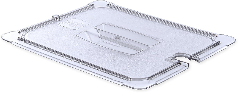 Carlisle 10231U07 StorPlus Half Size Polycarbonate Universal Handled Notched Food Pan Lid, Clear