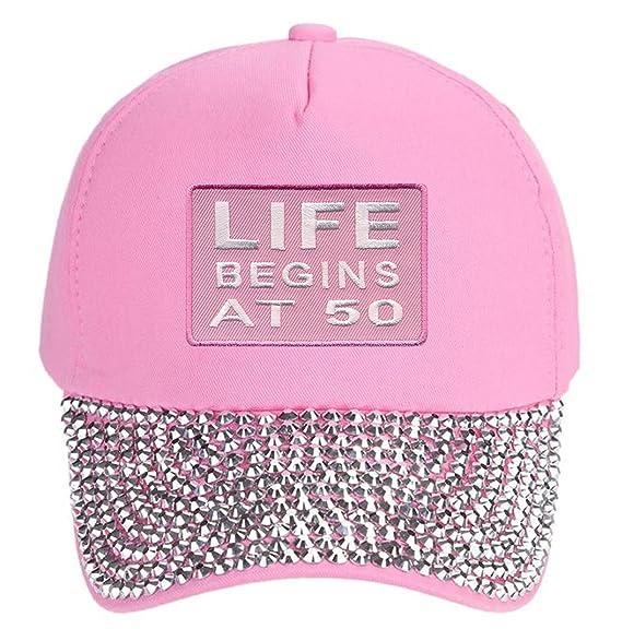 Life Begins At 50 Pink Hat