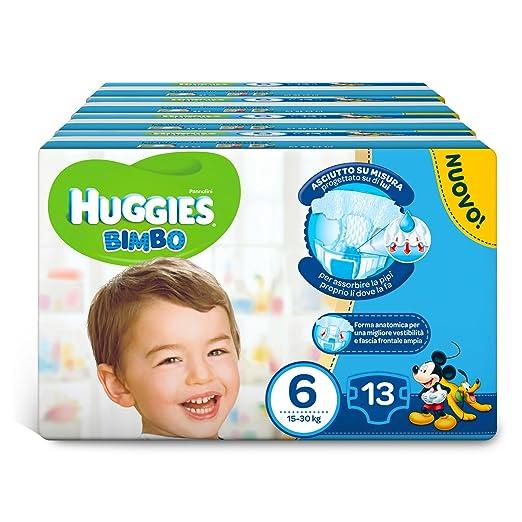 48 opinioni per Huggies Pannolini Bimbo, Taglia 6 (15-30 kg), 4 Confezioni da 13 [52 Pannolini]