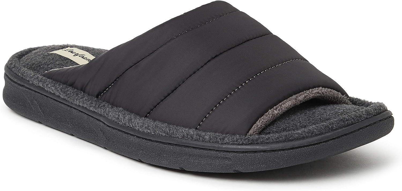 Dearfoams Men's Max Quilted Nylon Slide Slipper