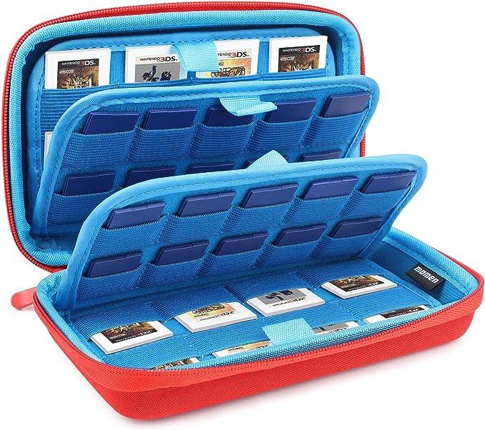 Funda para almacenamiento de juegos de Nintendo Switch,72 Ranuras para .40 Cartuchos de Juegos Switch y 32 tarjetas Micro SD ,Rojo: Amazon.es: Videojuegos