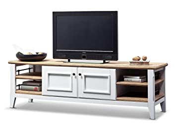 Lowboard hifi  Country Style Solid TV Sideboard Lowboard HIFI RACK WHITE Living ...