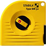 STABILA Kapselbandmaß BM 50 W, 20 m // Eigenschaften: Stahlband, Universalhacken, Nagelöse, anschlagfähiges Gehäuse