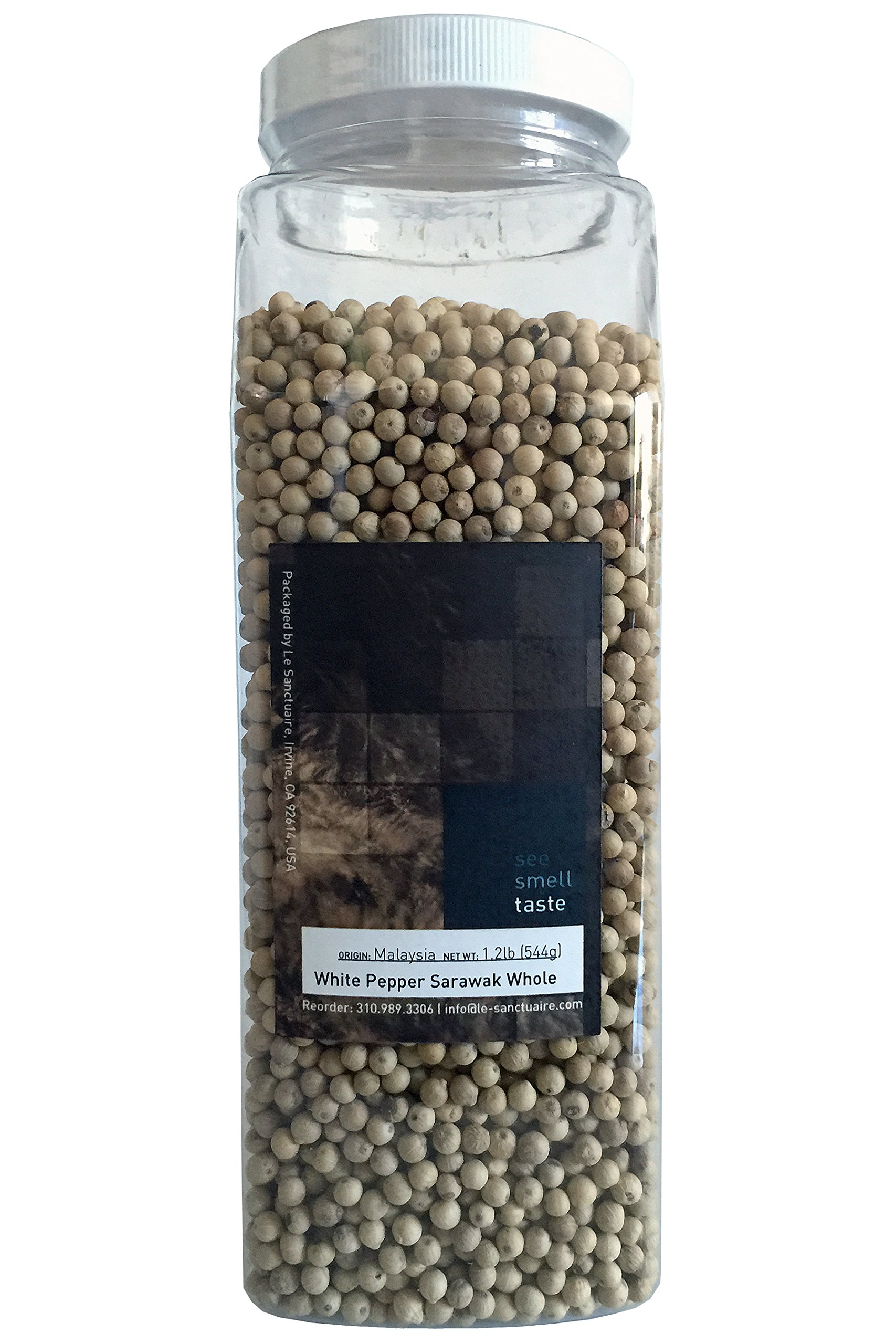See Smell Taste White Peppercorn Sarawak, 1.2 Pound by See Smell Taste