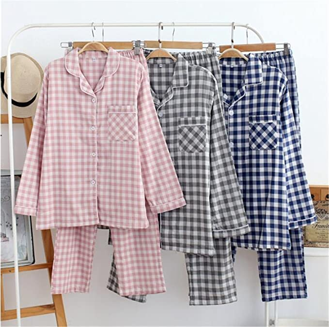 Michael Stevenson 100% Cotton And Gauze Dressing Gown Man&Woman House Coat Husband And Wife Pijama at Amazon Womens Clothing store: