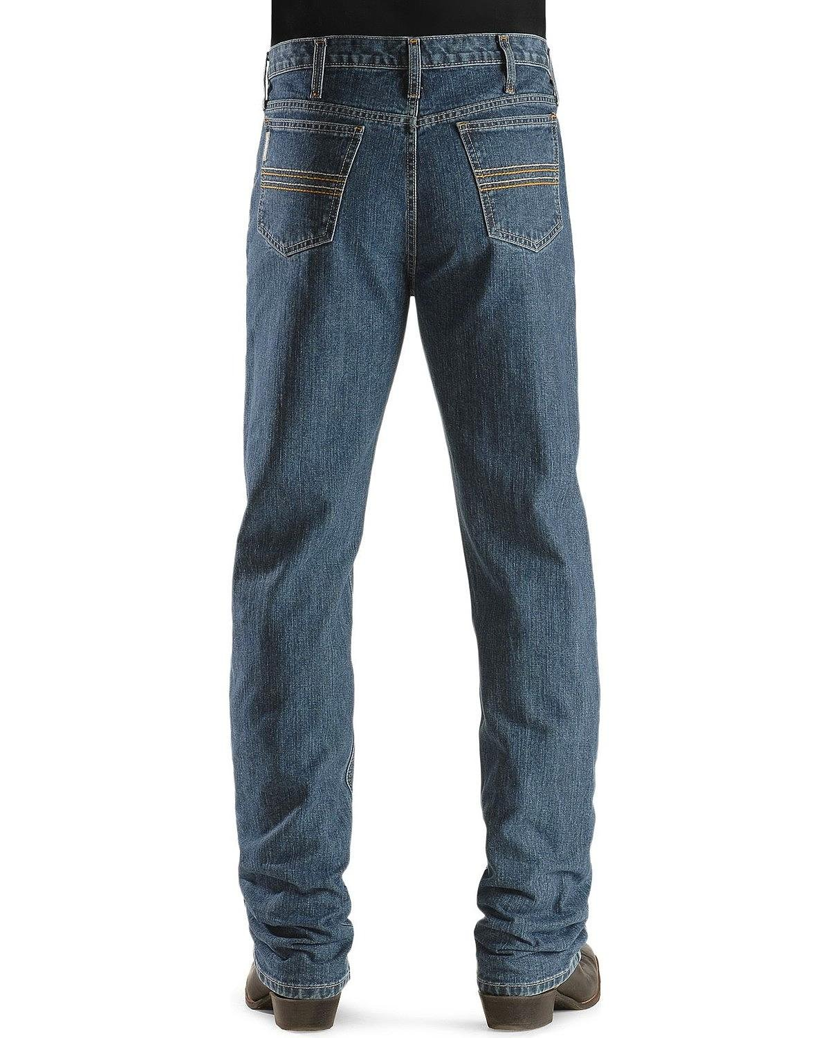 Cinch Men's Silver Label Straight Leg Jeans Big and Tall Indigo 34W x 38L