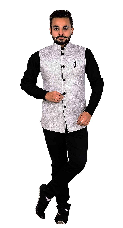 b0be7081336 Amazon.com  Men s Nehru Gandhi Modi Waistcoats to match shalwar kameez  Indian waistcoat 1005 (38 (S)