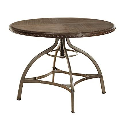 Attrayant Modern Industrial Reclaimed Wood Swivel Dining Table With Nailhead Trim And  Metal Frame   Includes Modhaus