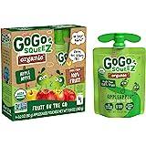 GoGo squeeZ Organic Applesauce, Apple Apple, 3.2 Ounce (4 Pouches), Gluten Free, Vegan Friendly, Unsweetened Applesauce…