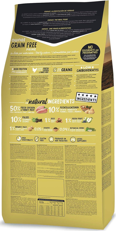 Ownat Grain Free Prime Junior Chicken & Turkey 3000 g: Amazon.es: Productos para mascotas