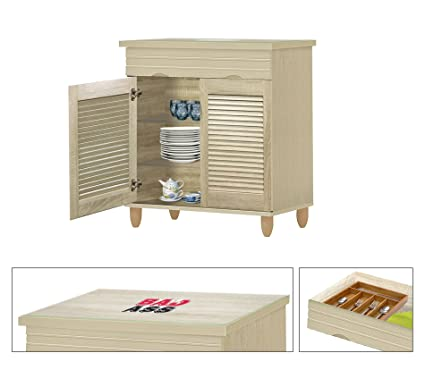 Amazon.com: NEW! Kitchen Buffet Hutch with Drawer in a Beige ...