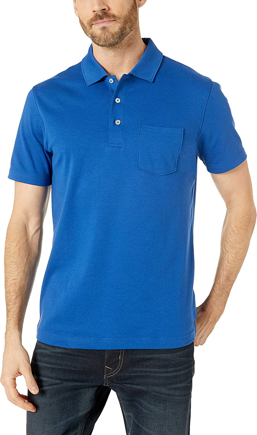 Essentials Mens Slim-fit Jersey Polo