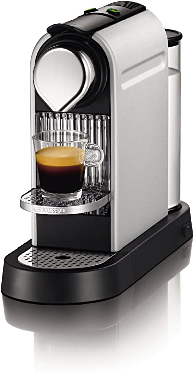 Nespresso CitiZ Ice Silver XN7002 Krups - Cafetera monodosis (19 bares, Rejilla adaptable para vaso Macchiato, Modo ...
