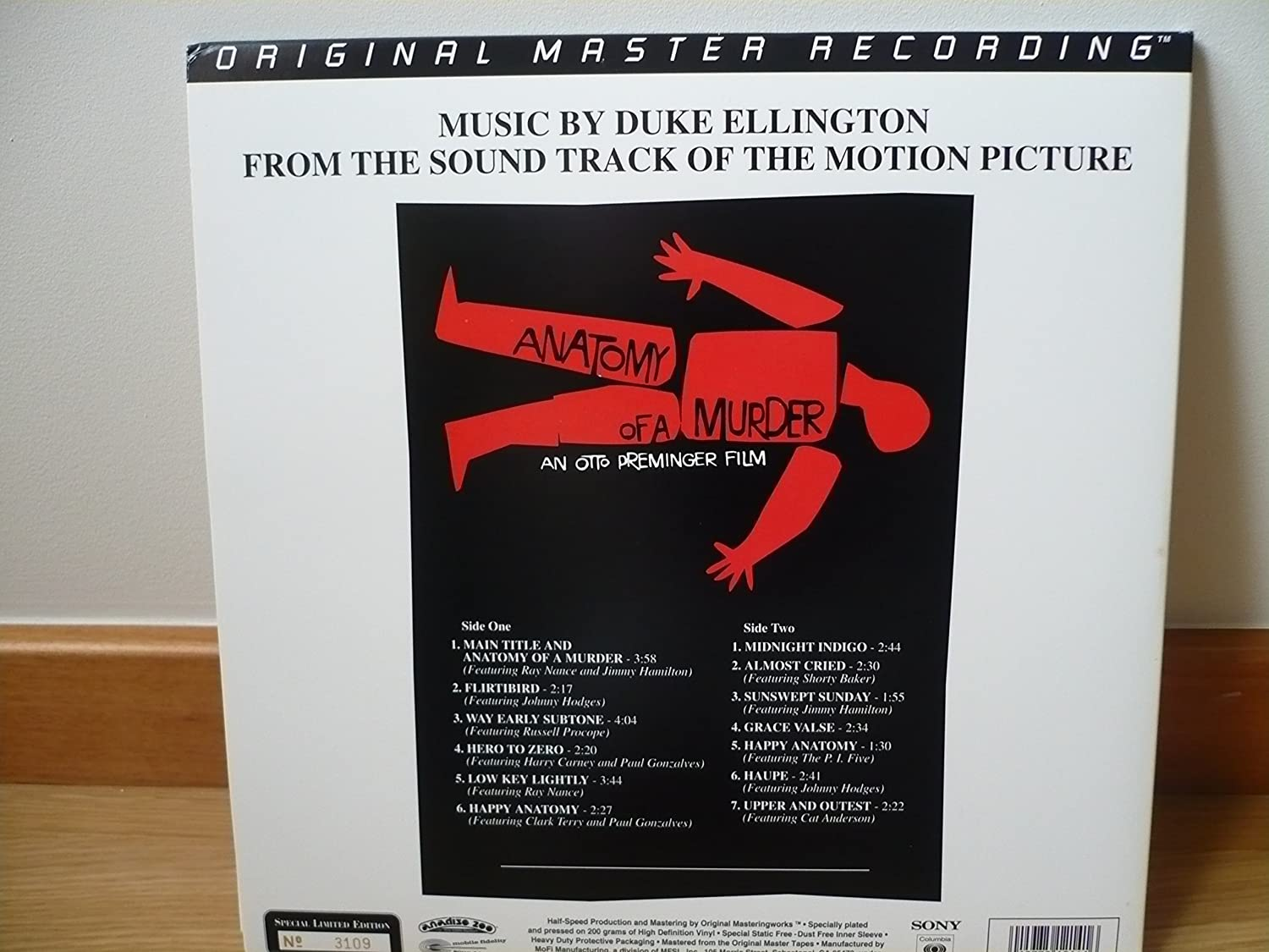Duke Ellington - Anatomy of a Murder [Vinyl] - Amazon.com Music