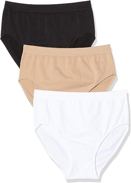 Anaissa Pack x 3 Braguitas Bikini Microfibra Sin Costuras: Amazon.es: Ropa y accesorios