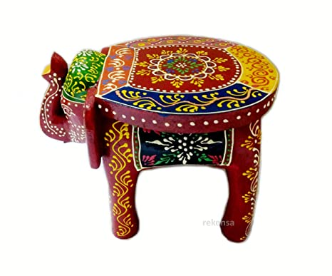 Magnificent Buy Handicraft Wooden Elephant Stool Table Showpiece For Onthecornerstone Fun Painted Chair Ideas Images Onthecornerstoneorg