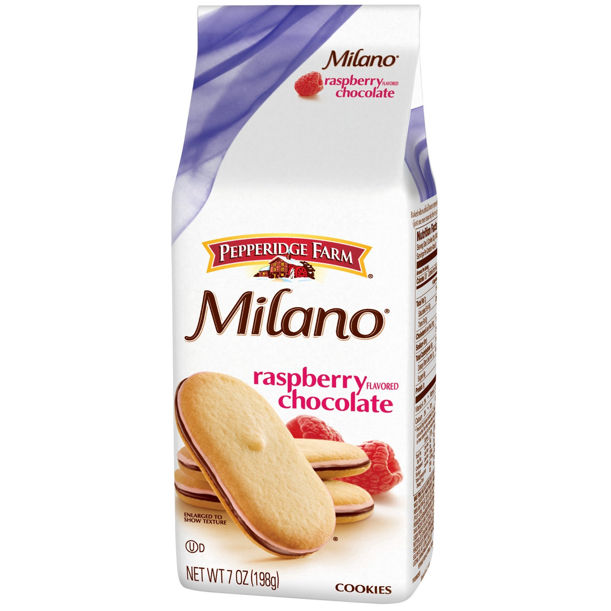 Pepperidge Farm Milano Raspberry Flavored Chocolate Cookies 7 oz (Pack of 3)