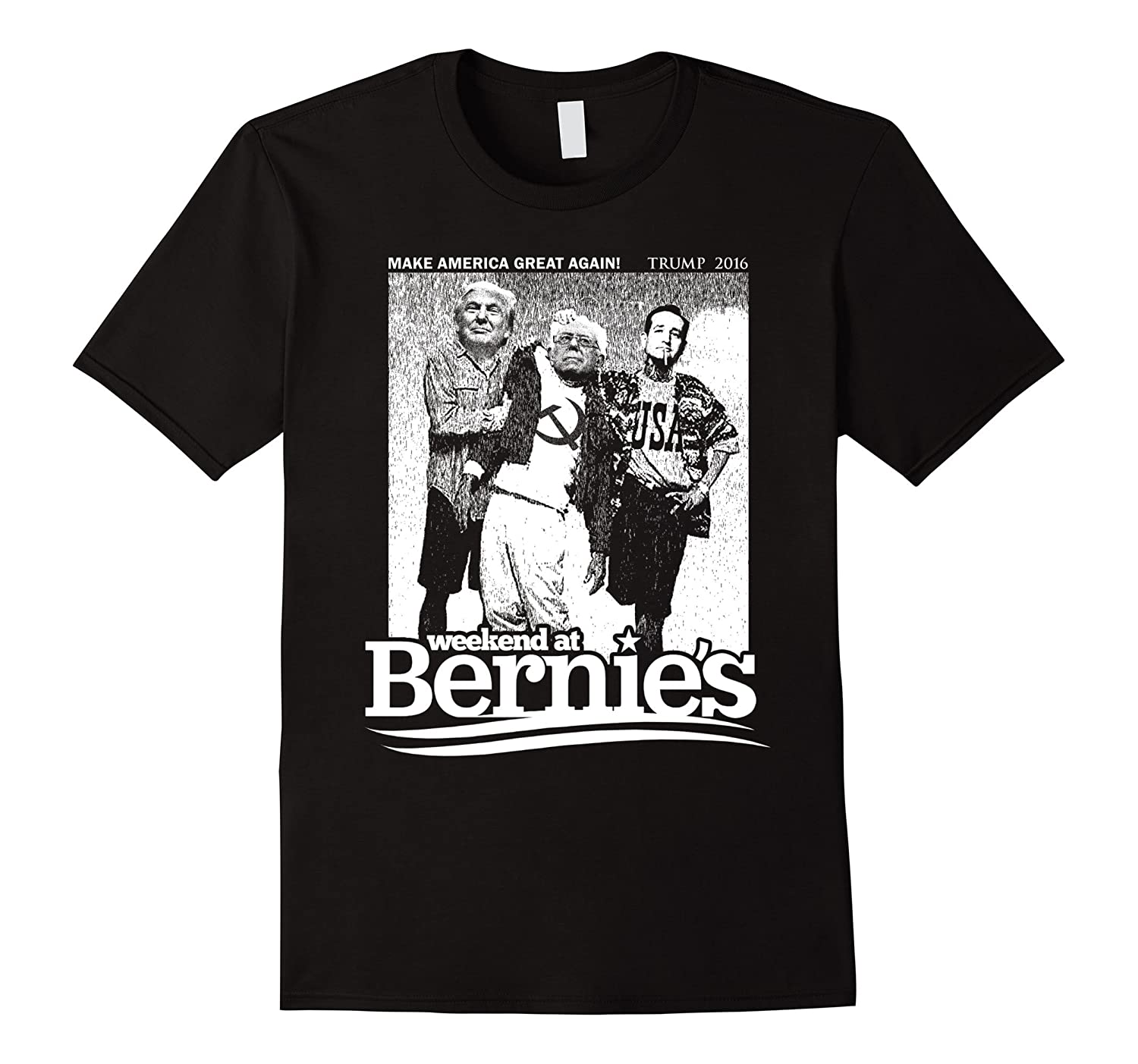 Donald Trump Weekend at Bernies Funny T-Shirt-RT