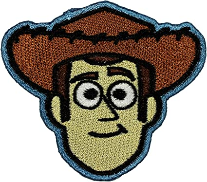 TOY STORY WOODY Fabric Iron on Patches//Sew On//Applique//Embroidered W3.5 x H3