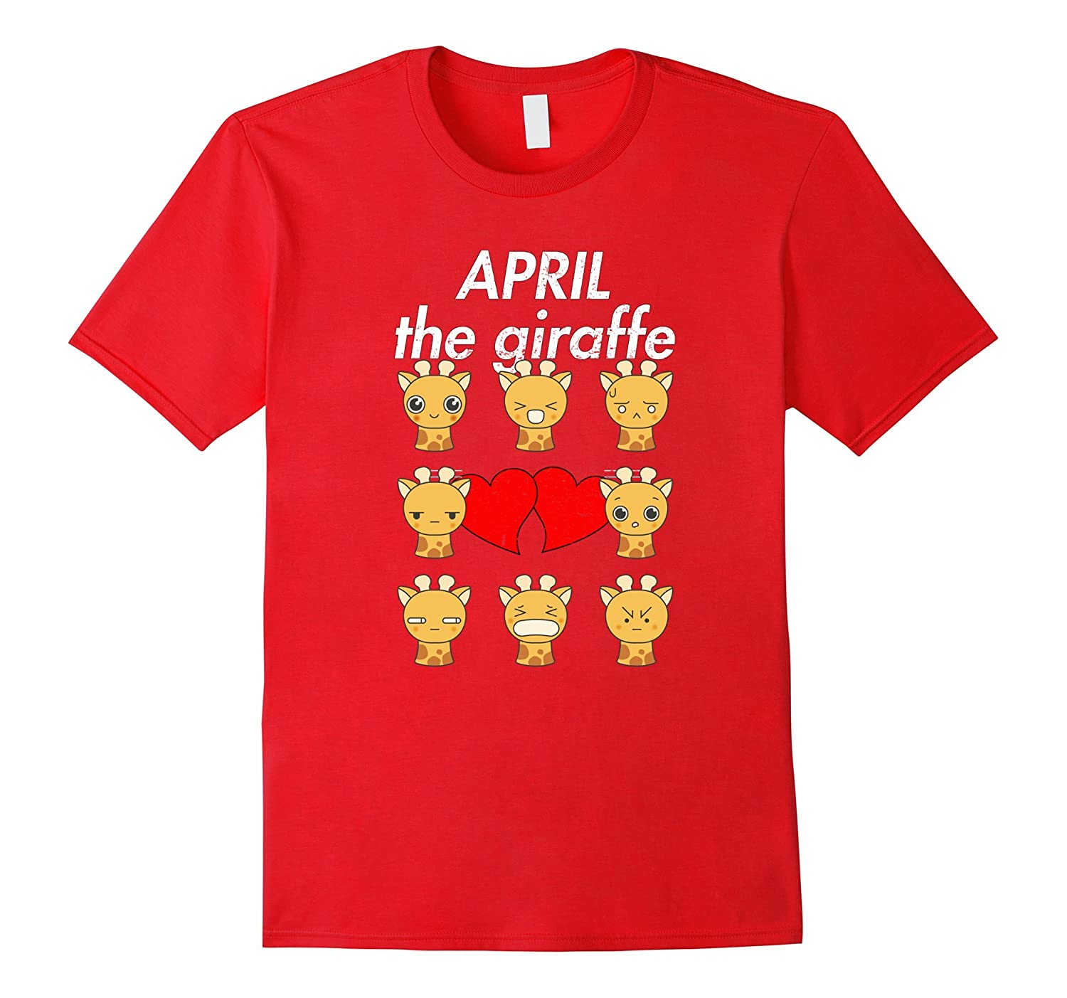 April The Giraffe T-Shirt Funny Emoji For Kids-CD