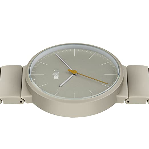 Braun Menu0027s Quartz Watch With Grey Ceramic Strap And Grey Dial Analogue  Display BN0171BKBKG: Braun: Amazon.co.uk: Watches