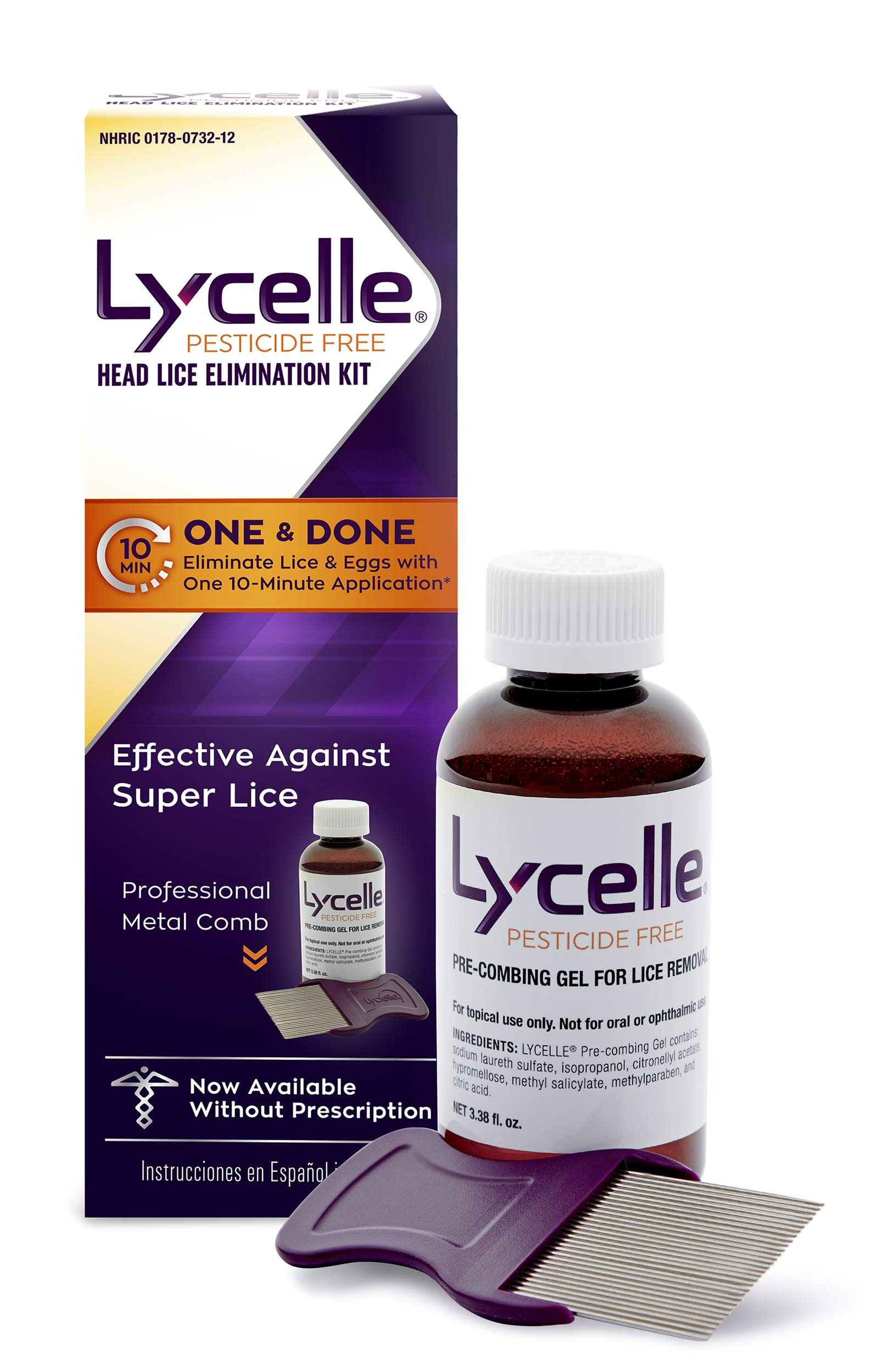 Lycelle Head Lice Removal Kit, Pesticide Free, 3.38 Oz by Lycelle
