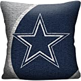 "NFL Dallas Cowboys Portal Jacquard Woven Pillow, 20"", Navy Blue"