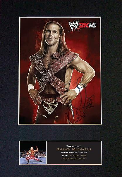 SHAWN MICHAELS HBK - WWE Firmado autógrafos foto enmarcada Repro ...