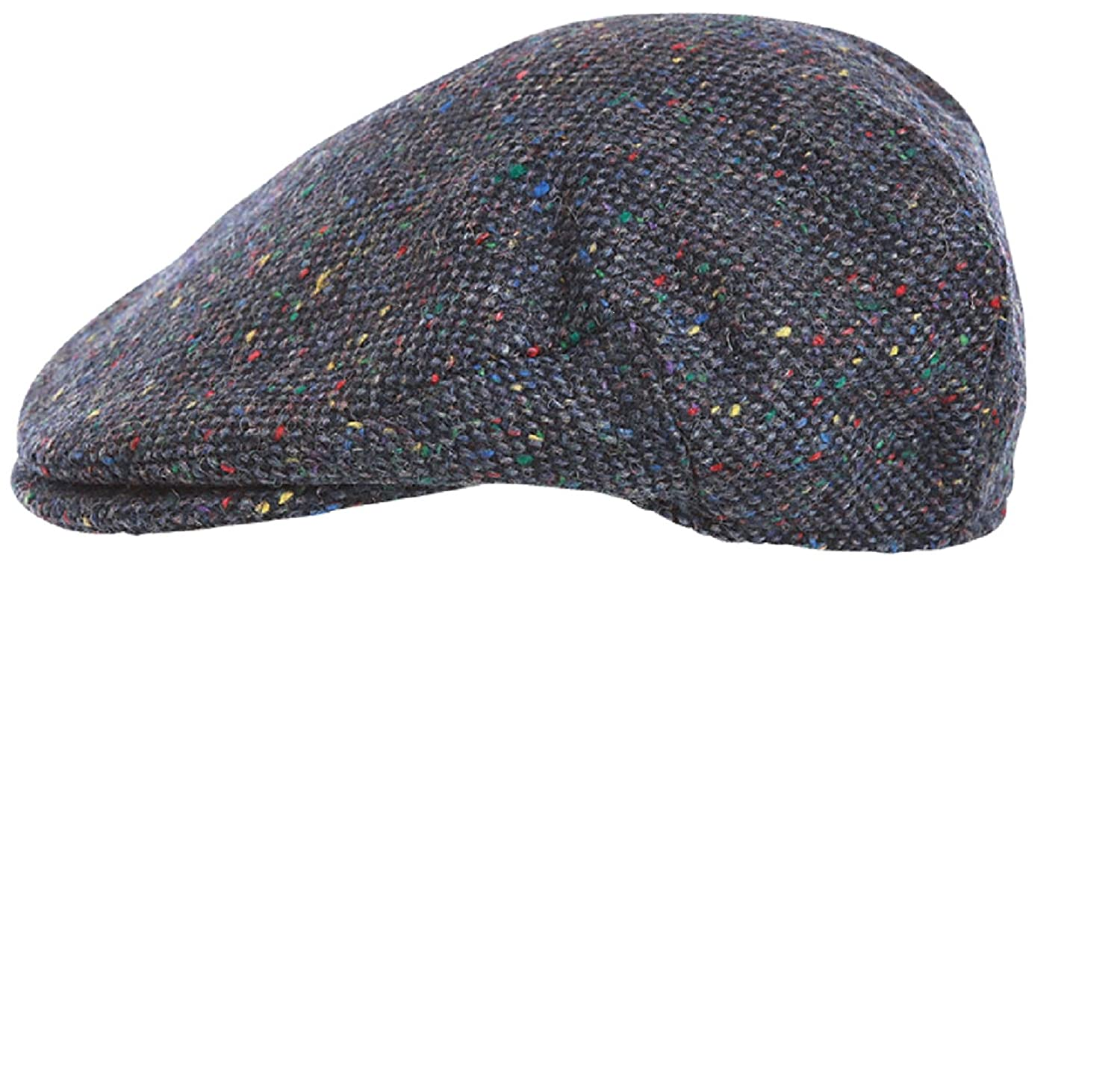 Hanna Hats of Donegal.Irish Flat Cap.Donegal Tweed.Blue Tweed