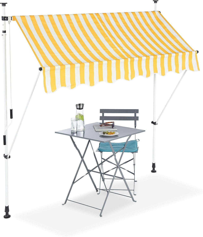 Nishore Auvent Lat/éral R/étractable Paravent Ext/érieur pour Jardin etc R/ésistant aux UV et /à leau 500 x 180 cm Terrasse l x H Balcon