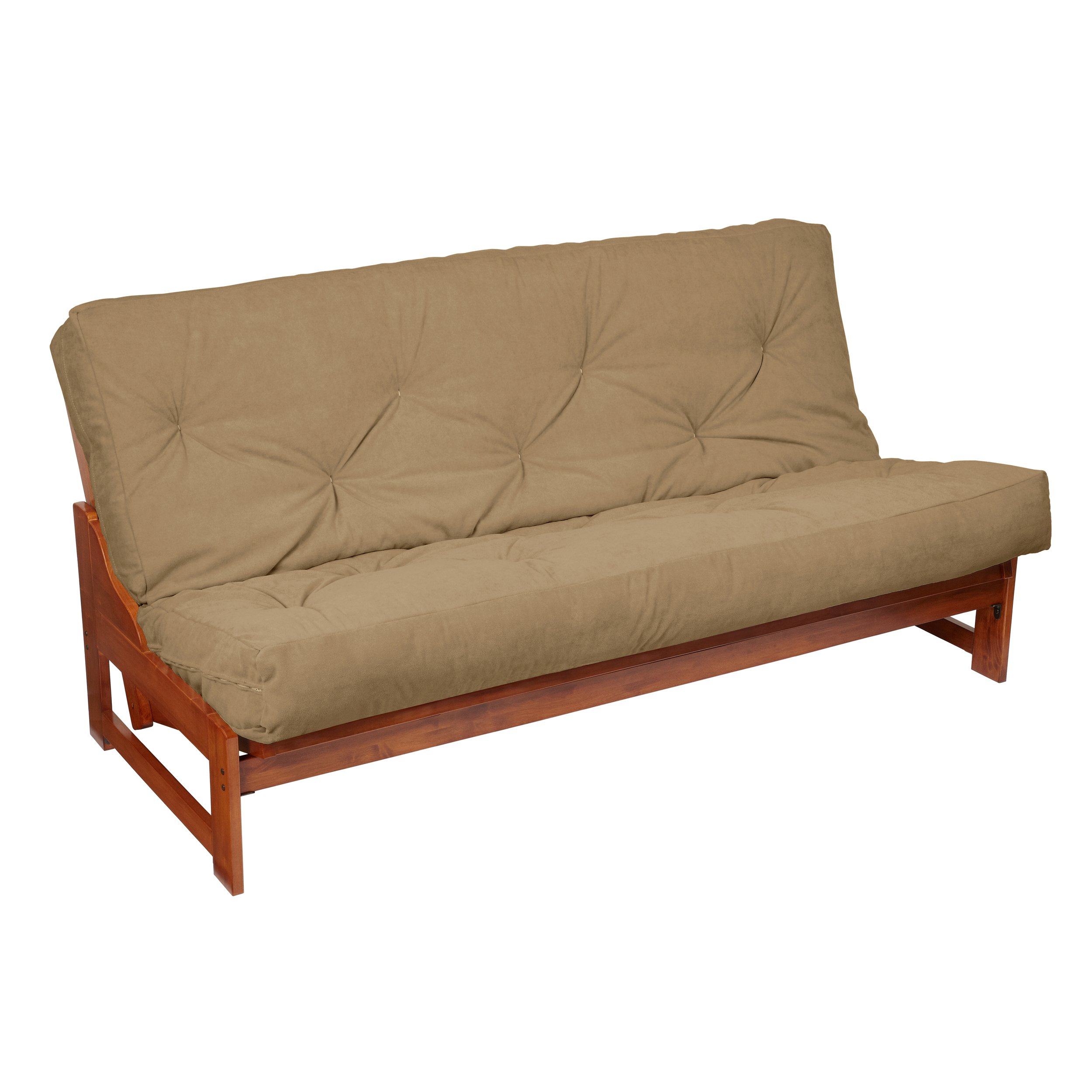 Mozaic Futon Mattress, Queen, Suede Khaki by Mozaic