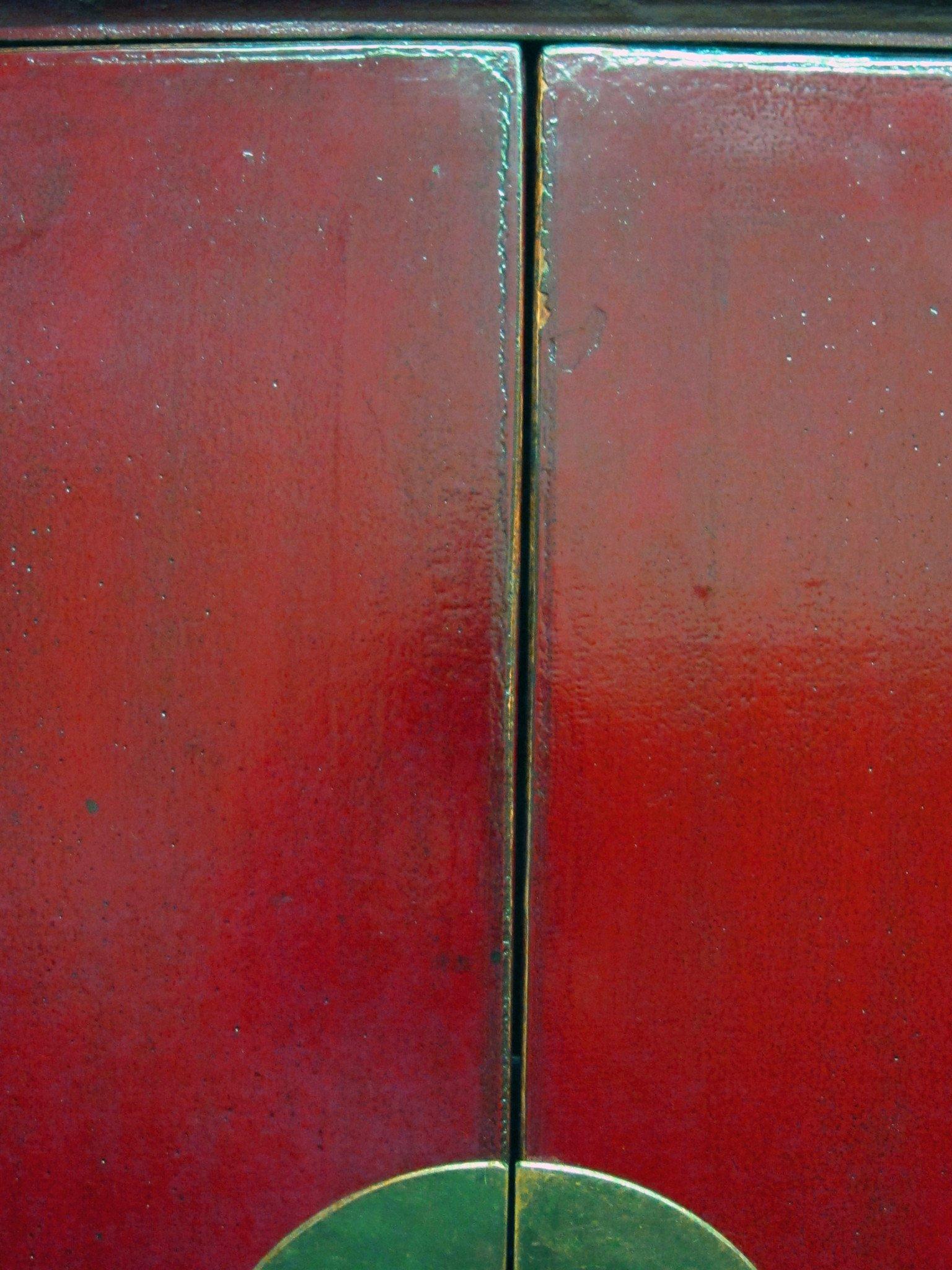 Red Lacquer Antique Noodle Cabinet