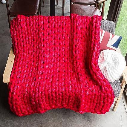 chunky knit manta tirada gigante mano tejida suave ganchillo ...