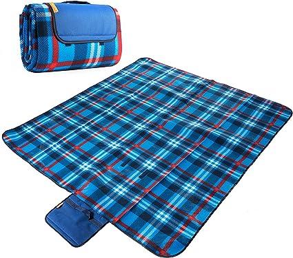 Polar Fleece Tartan Blankets Picnic Car Travel Blanket Rug Camping Beach Mat