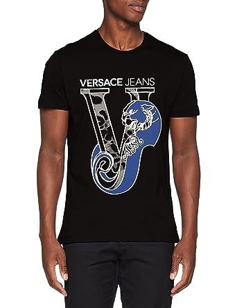 Versace Jeans Man T-Shirt, Pull sans Manche Homme, Noir (Nero E899 ... 19de5e2f66d