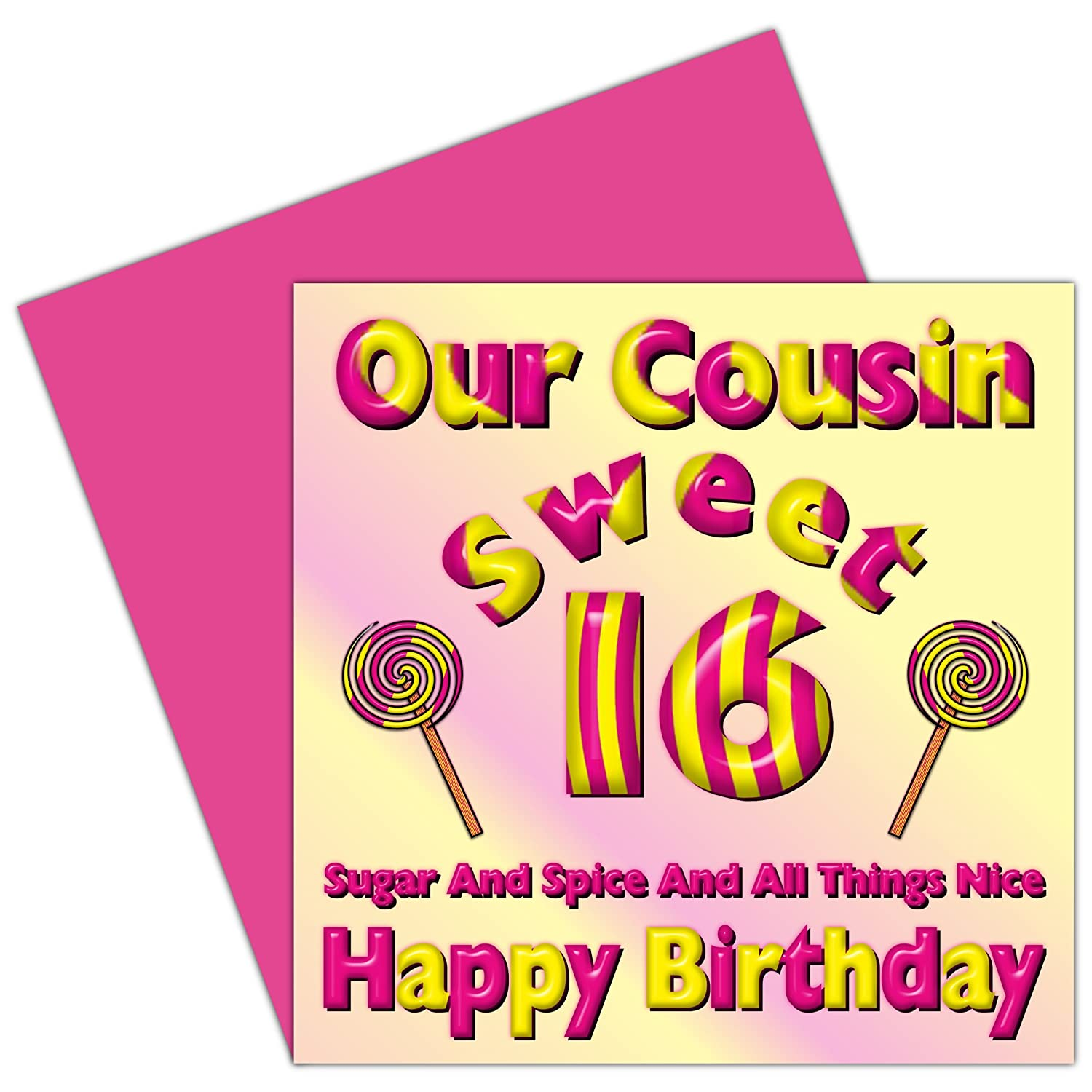 Our Cousin Sweet 16 Happy Birthday Card 16th Birthday Sixteen