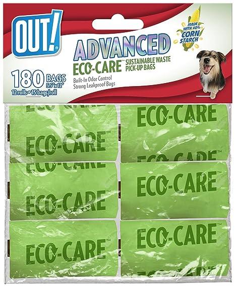 OUT! ¡Salida! Eco-Care - Bolsas de Recogida para Perro, 180 ...