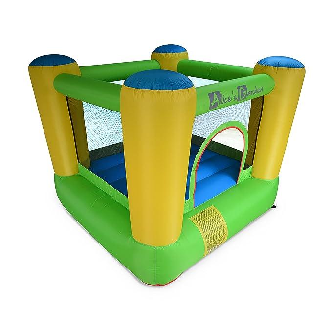 Alices Garden Castillo Hinchable, Zona de Juego, 2m para niño (Incluye inchador (330W), Bolsa de Transporte y Kit de reparación) - CHAMBORD