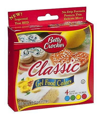 Amazon.com : Betty Crocker Classic Gel Food Colors - 4 CT : Gel ...