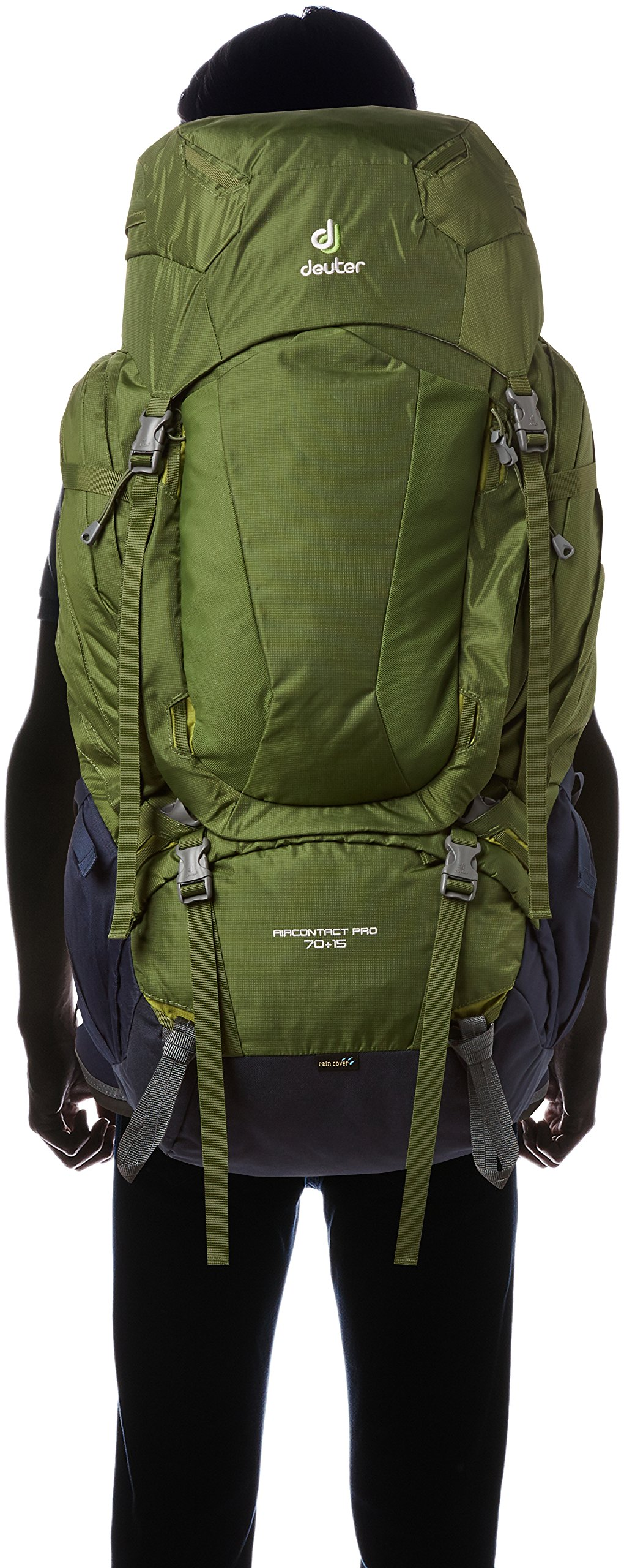 075cb165595 Deuter AirContact Pro 70 + 15 Backpack Unisex Pine-Navy