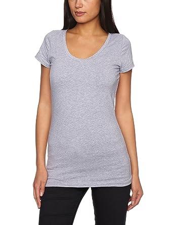 cf86baad5b1 G-Star Base Deep R T - Camiseta liso de manga corta con Cuello chimenea  para mujer  Amazon.es  Ropa y accesorios